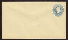 U114 UPSS # 272-7 1c Light Blue on Amber, die 2, Mint Entire
