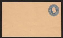 U115 UPSS # 274 1c Light Blue on Cream, die 2, Mint Entire