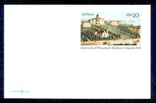 UX301 UPSS# 314 20c University of Wisconsin Mint Postal Card