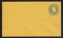 U116 UPSS # 279-6 1c Blue on Orange, die 2, Mint Entire