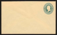U161 UPSS # 377 3c Green on Cream, die 1, Mint Entire