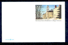 UX316 UPSS# 330 20c Middlebury College Mint Postal Card