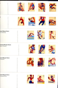 UX242-61 UPSS# 255-74 20c Summer Olympics Mint Postal Cards, Opened Set of 20 Postal Cards