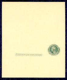 UY7 UPSS# MR14 1c Washington, single frame Mint UNFOLDED