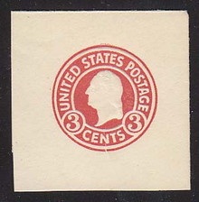 U436g 3c Carmine (error) on White, die 1, Mint Full Corner, 45 x 45