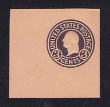 U438c 3c Dark Violet on Oriental Buff, die 7, Mint Cut Square, 50 x 50