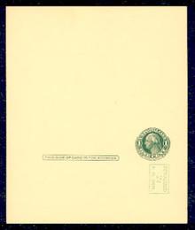 UY14 UPSS# MR23-1 Revalued 2c on 1c UY7, vertical below stamp, Tickometer, Mint UNFOLDED