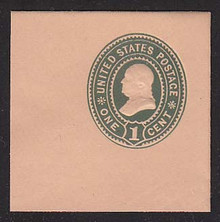U354 1c Green on Oriental Bull, Mint Cut Square, 47 x 47
