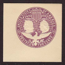 U349 2c Violet on White, die 3, Mint Full Corner