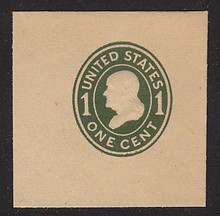 U404 1c Green on Manila, die 1, Mint Full Corner