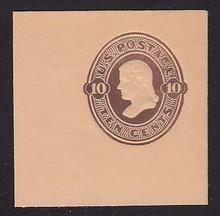 U191 10c Brown on Oriental Buff, die 2, Mint Full Corner, 50 x 50