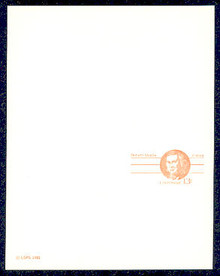 UY34 UPSS# MR44 13c Robert Morris Mint UNFOLDED