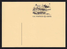 UX63 UPSS# S80Cd 6c Gloucester Mass. Mint Postal Card, Front shifted 29mm