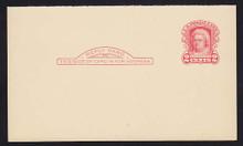 UY8r UPSS# R15 1c Washington, Red Mint Reply Half