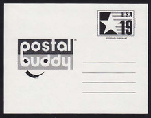 CVUX3, UPSS #PB3b2 19c Postal Buddy, Type C Backside, Mint Postal Card