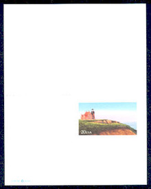 UY42 UPSS# MR52 20c Block Island Lighthouse Mint UNFOLDED
