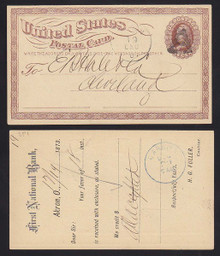 "UX1 Akron, OH Large ""A"" Fancy cancel"