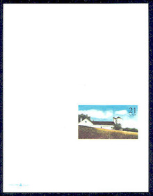 UY43 UPSS# MR53 21c White Barn Mint UNFOLDED