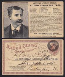 UX3 New York, NY American Literary Bureau Lecture Season 1874-75 Advertising