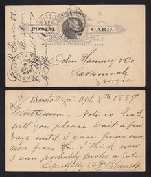 "UX9 Boston, GA Fancy ""US"" in Oval Cancel"