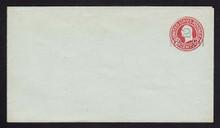 U457a, UPSS #2839-22 2c on 2c Carmine on Blue, die 5, Mint Entire