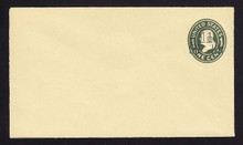 U511, UPSS #3197-18 1 1/2c on 1c Green on Amber, die 1, Mint Entire