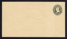 U511, UPSS #3198-17 1 1/2c on 1c Green on Amber, die 1, Mint Entire