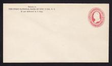 U240 UPSS# 742 2c Red on White, Mint Entire, CC