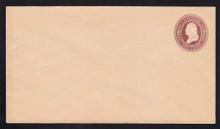 U279 UPSS# 813-6 2c Brown on Oriental Buff, die 1, Mint Entire