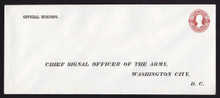 UO29 UPSS# WD22 30c Dark Red on White, Mint Entire, Printed Address
