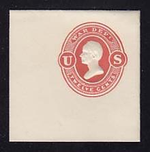UO61 12c Red on White, Mint Full Corner, 50 x 50
