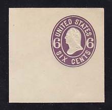 U64 6c Purple on White, Mint Full Corner, 50 x 50