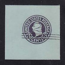 U451b 2c on 3c Dark Violet on Blue, die 5, Mint Full Corner, 50 x 50