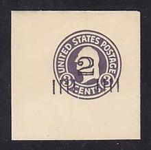 U458 2c on 3c Dark Violet on White, die 1, Mint Full Corner, 50 x 50