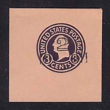 U460 2c on 3c Dark Violet on Oriental Buff, die 5, Mint Full Corner, 50 x 50