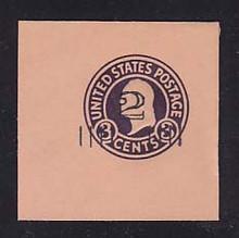 U460b 2c on 3c Dark Violet on Oriental Buff, die 6, Mint Full Corner, 50 x 50