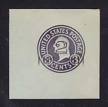 U461b 2c on 3c Dark Violet on Blue, die 6, Mint Cut Square