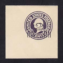 U468 2c on 3c Dark Violet on White, die 1, Mint Full Corner, 50 x 50