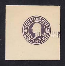 U468b 2c on 3c Dark Violet on White, die 6, Mint Full Corner, 50 x 50