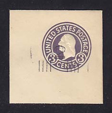 U468c 2c on 3c Dark Violet on White, die 7, Mint Full Corner, 50 x 50