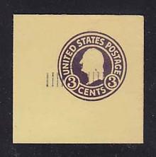 U469 2c on 3c Dark Violet on Amber, die 1, Mint Cut Square