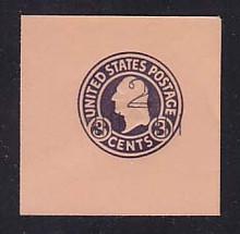 U470b 2c on 3c Dark Violet on Oriental Buff, die 6, Mint Full Corner, 50 x 50