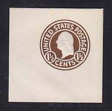 U481 1 1/2c Brown on White, die 1, Mint Full Corner