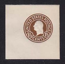 U481a 1 1/2c Brown on White, die 8, Mint Full Corner