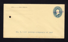 U296, UPSS #888-12 Entire, Specimen Form 43, From Contract