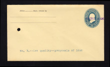 U296, UPSS # 886-12 Entire, Specimen Form 43, From Contract