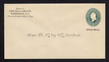U311, UPSS # 931-8 Entire, Specimen Form 39, John Doe & Co CC