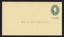 U312, UPSS # 959-8 Entire, Specimen Form 39