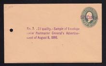 U313, UPSS # 969-12 Entire, Specimen Form 42