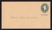 U313, UPSS # 971-8 Entire, Specimen Form 39